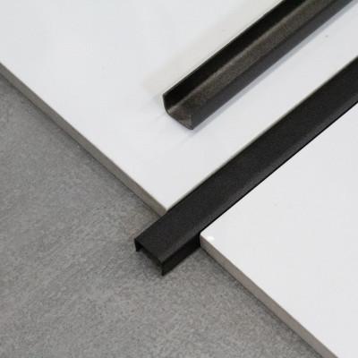 LISTWA STALOWA - NIERDZEWNA OZDOBNA typu C CZARNA 10mm